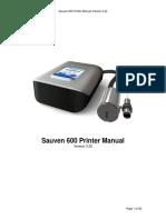 Operation manual  Sauven 600