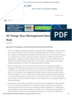 10 Things Your Management Needs to Know Now - Reliabilityweb_ a Culture of Reliability