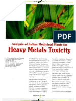 Analysis of Indian Medicinal Plants for Heavy Metal Toxicity