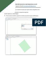 Manual Para Exportar e Importar Datos Cartograficos Al Gps