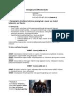 advising department strategic outline bullet