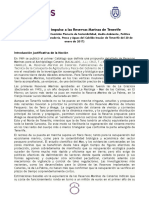 MOCION Desbloqueo Reservas Marinas Tenerife, Podemos Cabildo Tenerife, Fernando Sabate (Comision Sostenibilidad, Enero 2017)