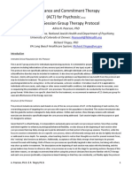 [Protocolo] ACT for Psychosis. an 18 Session Group Therapy Protocol - Pearson & Tingey
