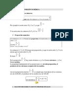 Razón y Proporción Numérica
