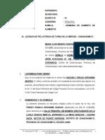 Demanda de Aumento de Alimentos 42 - Maria Flor Montes Farfan 2 ELABORADO POR EL ABOGADO PERCY JESUS CORONADO CANCHAN, CON DOMICILIO EN EL JIRON AYACUCHO Nº 108 - 2DO PISO EN LA MERCED - CHANCHAMAYO - JUNIN, CELULAR 954 062131.
