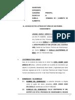 Demanda de Aumento de Alimentos 110 - ELABORADO POR EL ABOGADO PERCY JESUS CORONADO CANCHAN, CON DOMICILIO EN EL JIRON AYACUCHO Nº 108 - 2DO PISO EN LA MERCED - CHANCHAMAYO - JUNIN, CELULAR 954 062131.