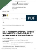 18-01-19 Los 20 mejores transportistas en México para Ryder _ T21