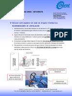 Válvula anticipadora de onda de dispara hidráulico. RECOMENDACIONES DE INSTALACION.pdf