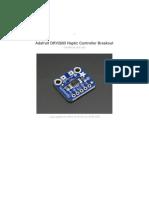 Adafruit Drv2605 Haptic Controller Breakout