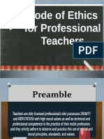 Code of Ethics for Professional Teach