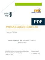 Applications de l'Argile Crue en Construction - Conférence NoMaD 5&6 Novembre 2015