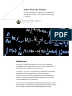 Mathematics for Data Science – Towards Data Science