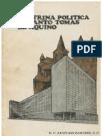 Doctrina Política St Tomás de Aquino