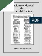 CANCIONERO MUSICAL DE JUAN DEL ENCINA. Fernando Abaunza