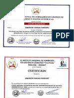 Certificados de Diplomados