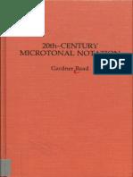 20th Century Microtonal Notation 1