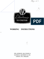 AVO Electronic Testmeter
