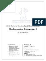 2018 BoS Trials Mathematics Extension 2