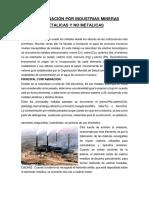 Contaminación Por Industrial Metales