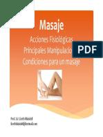 Introducción al Masaje Terapéutico
