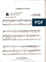 Lenguaje de Canaán Partitura