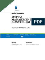 Modul Sistem Manajemen Mutu Konstruksi [TM7]