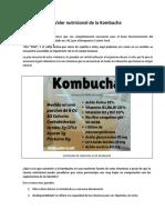 Valor Nutricional de La Kombucha