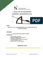 Fisica-T2- Trabajo de Laboratorio-Determinación de La Gravedad en Un Plano Inclinado