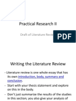 Practical Research 2 Draft of Literature Review