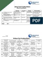 Speaking Writing Task Grading Rubric