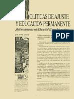 Sirvent-1992-Políticas de Ajuste y Educación Permanente