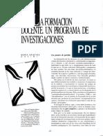 Davini-1995-La Formacion Docente Un Programa de Investigaciones