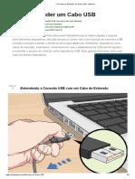 4 Formas de Estender Um Cabo USB - WikiHow