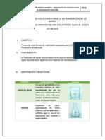 Soluciones Para La Determionacion Del Acides