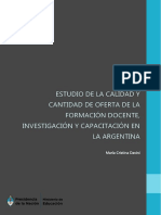 Davini-2015-Estudio de La Calidad y Cantidad de Oferta de La Formacion Docente