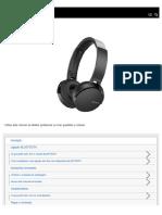 Sony Fone Sem Fio MDR-XB650BT - Guia de Ajuda PtBr