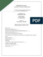 RTD Studies in PFR