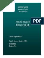 Apoyo social psicología