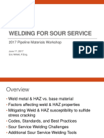 Welding for Sour Service