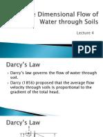 Flow of Water Through Soils