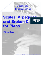 Scales Arpeggios and Broken Chords