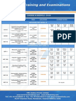 Sample training schedule