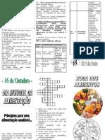 Dia Da Alimentacao - Panfleto