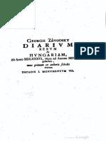 Závodszky György naplója 1586 - 1624