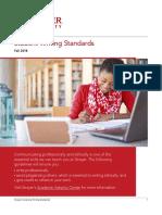 Strayer University Writing Standards Fall 2018