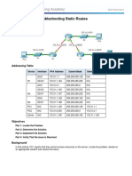 Chapter 2.4 - Troubleshooting Static Routes Instructions