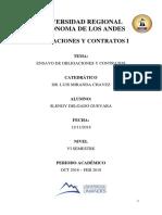 Contratos y obligaciones Libro 4 Codigo Civil Ecuador