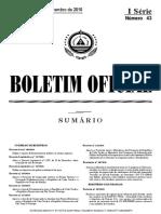 4.BO Nº 43, I Serie , De 081110 (Decreto Lei 12 de 2010 Sobre Cheques)