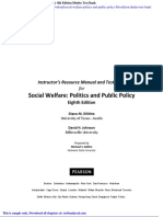 Social Welfare Politics and Public Policy 8th Edition Dinitto Test Bank