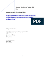 Global Business Today 5th Canadian Edition test bank